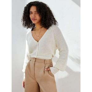 NWOT Aritzia Wilfred Granada Relaxed Wool Cotton Blend Cardigan